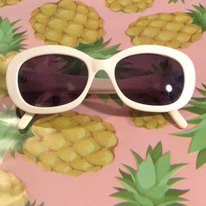 Vintage 90s Calvin Klein White Sunglasses